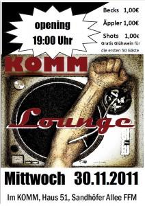 Einladung KOMM Lounge 30.11.2011
